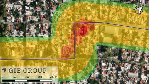 Ejemplo de Riesgo QRA en GIS